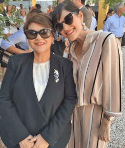 Sra. Minerva Viuda de Cocco y Patricia Cocco
