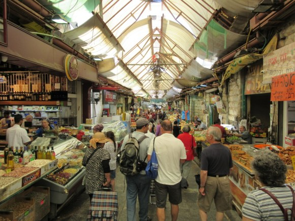 Touring Israel - Walking along the lively Mahane Yehuda Market