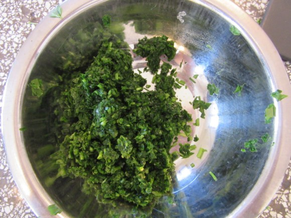 Touring Israel - ...Chopped parsley the finest we'd ever chopped it (like sand, I was told)...