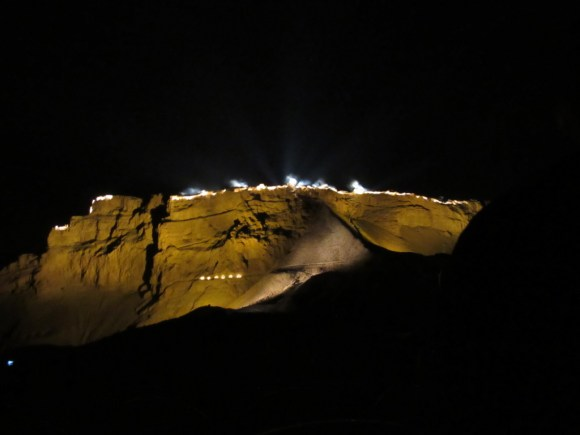 The sound and light show by Masada