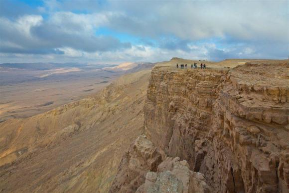 The Ramon Crater in the Negev Desert (Photo by Dafna Tal on goisrael.com)