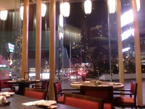 My view. The restaurant has high ceiling. I heard there's Teppanyaki. Must try soon!