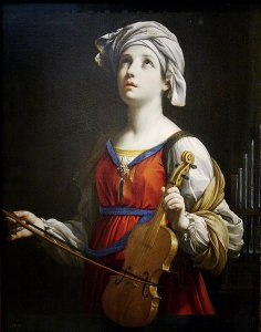 St. Cecilia as rendered by Guido Reni. Photo from Wikipedia.