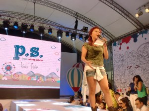 Joyce Pring hosted the fashion show.