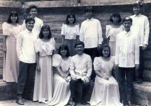 Dada and Niner touring together during college at the Ateneo in California.