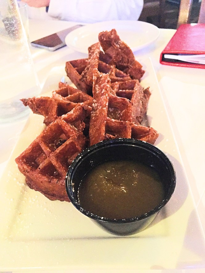 Apparently in Canada, they eat waffles for dinner. With maple syrup icing. I love you Toronto.