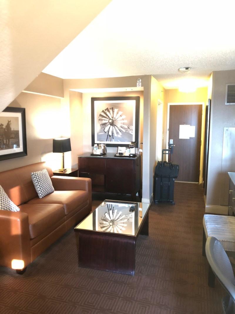 Living Room Bi-Level Suite Sheraton Houston North IAH