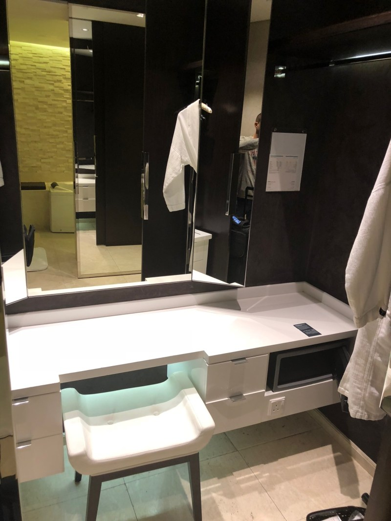 Dressing Area / Vanity at The Le Meridien DXB Le Royal Club