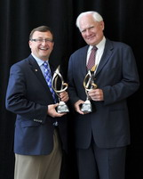 2011 Award - Mike Wallace & Walter Mulkewich