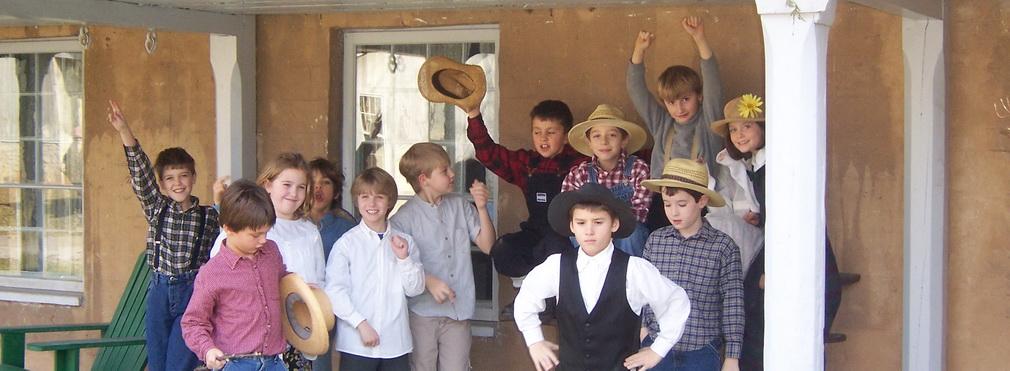 Kids at Ireland House