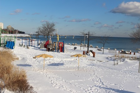 winter at spencer smith park