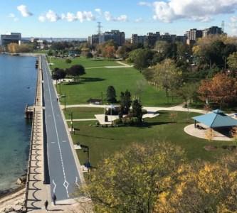 Spencer Smith Park Promenade in Fall