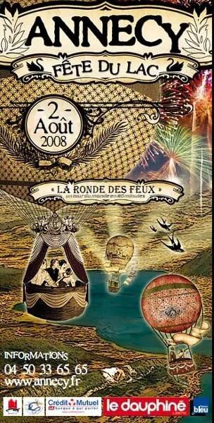 Fête du lac 2008 à Annecy : La ronde des feux