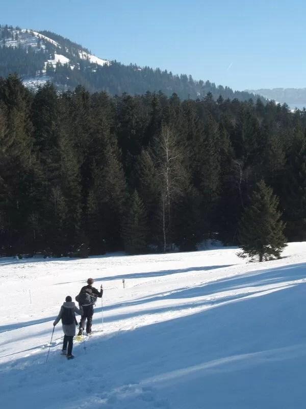 Randonnée hivernale en raquettes à neige