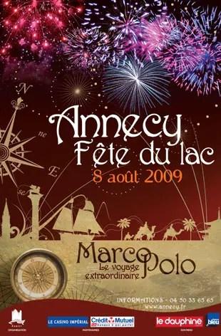Fête du lac 2009 à Annecy : Le voyage de Marco Polo