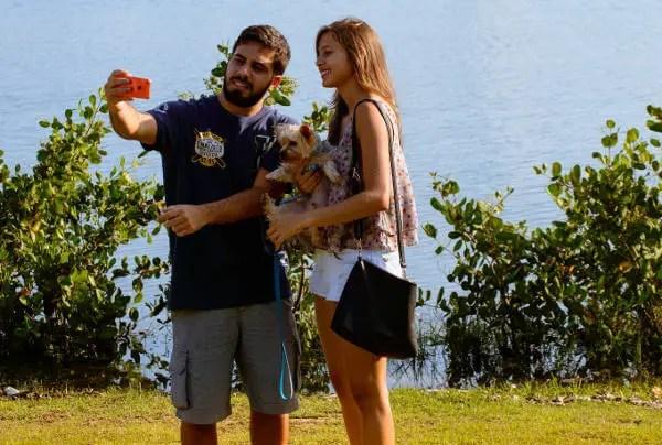 selfie en vacances