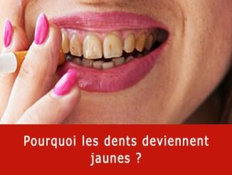 Pourquoi les dents deviennent jaunes