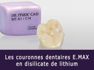 Couronne dentaire e.max