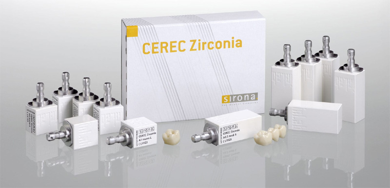 Couronne dentaire Cerec en zircone