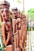 Dayak carvings and culture
