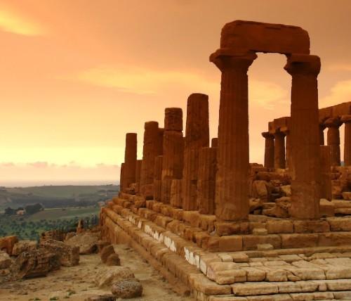 Particolare del Tempio di Giunone ad Agrigento
