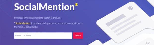 Social Mention website screen shot