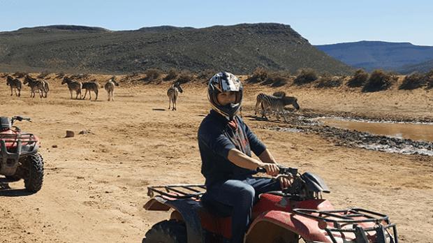 quad biking at aquila