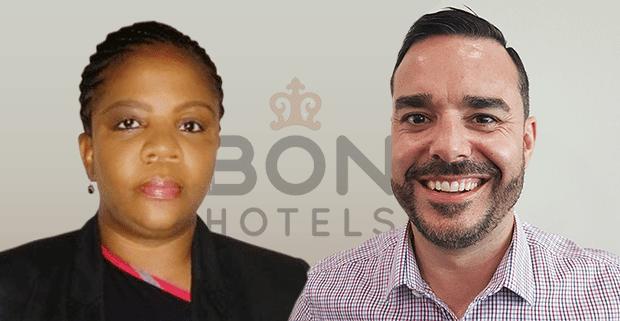 BON Hotels employees Thobile Shange and Shaun Boyd