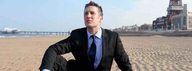 Businessman on a beach