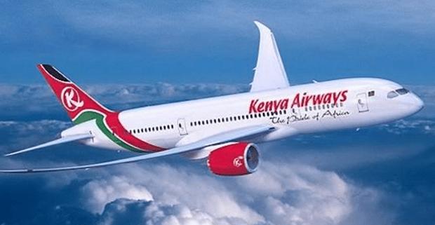 Kenya Airways aircraft in flight