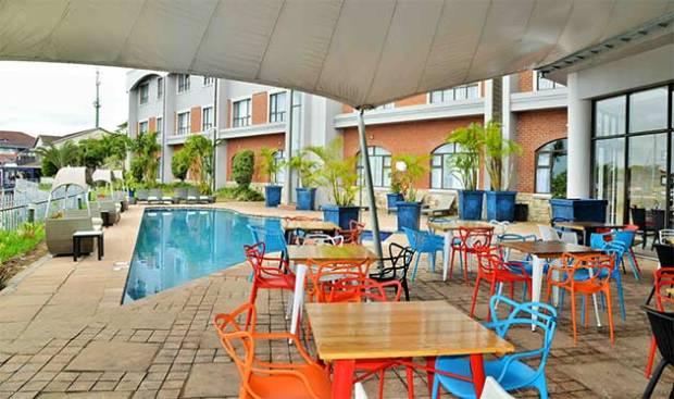 Pool deck at BON Hotel Waterfront Richards Bay