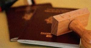 Passports with stamp