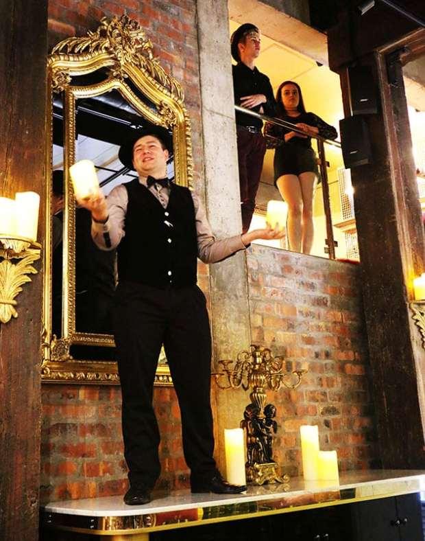 Waterfront Theatre School performers at Vivaldi Restaurant