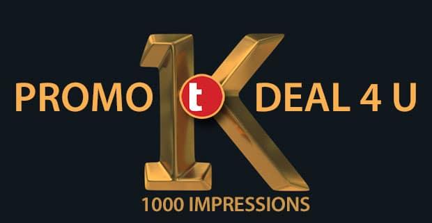 1K promo deal
