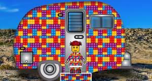 Lego block camper trailer image