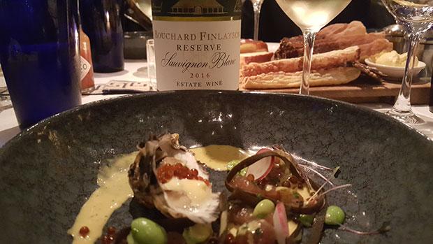 ape Atlantic Fruit de Mer starter at Azure Restaurant