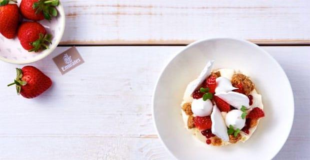 Emirates strawberries and cream