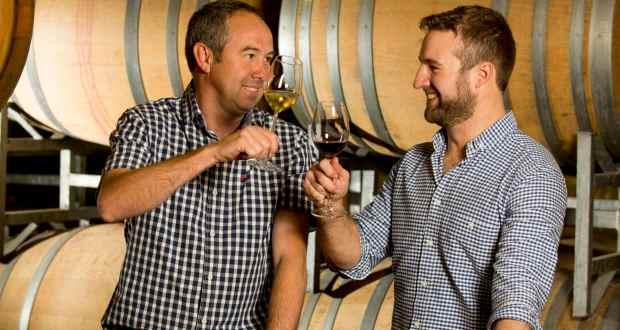 PG Slabbert and James Ochse of Stellenbosch Hills Wine Estate