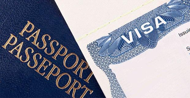Passport with visa