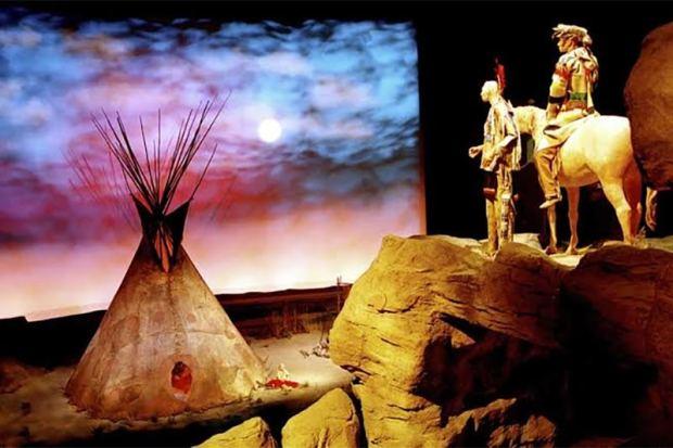 Plains Indian Museum display