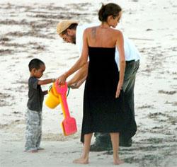 Brad Pitt and Angelina Jolie in Kenya
