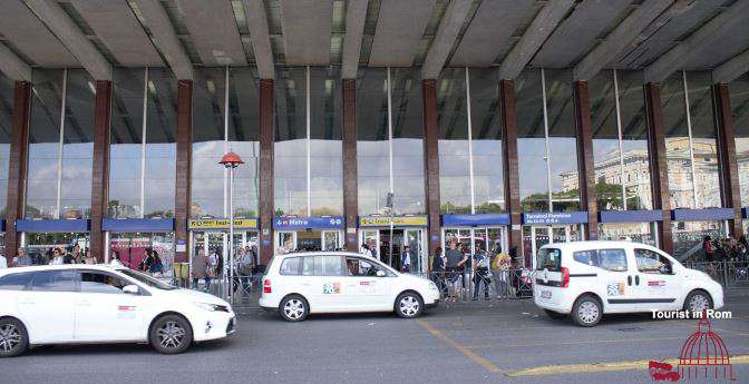Taxi in Rome Termini Station