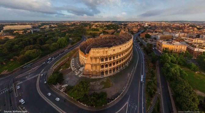 Panorama Luftaufnahmen von Rom und vom Vatikan