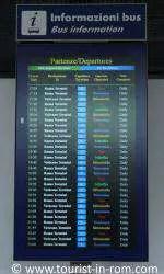 Info bus departures Fiumicino airport
