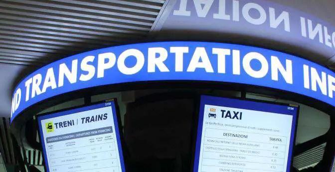 Rom Fiumicino nützliche Info · Flughafentransfer