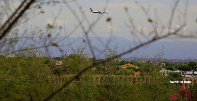 Landeanflug auf Ciampino Rom
