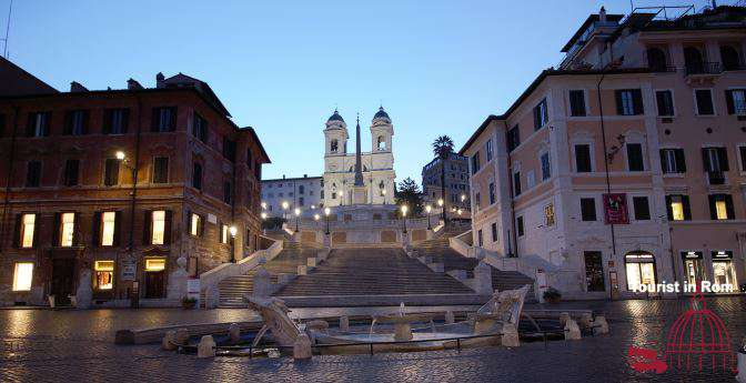 Attractions in Rome Spanish Steps