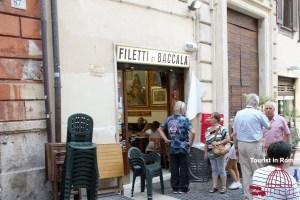 Essen in Rom Filetti di Baccala