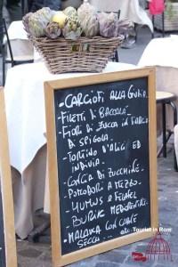 Essen in Rom Menu Ghetto