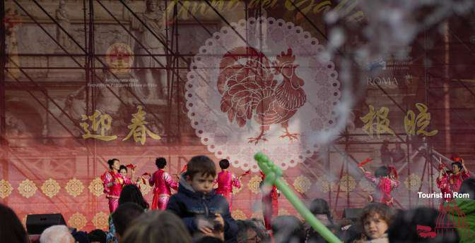 Rome Chinese New Year 2017 Piazza del Popolo